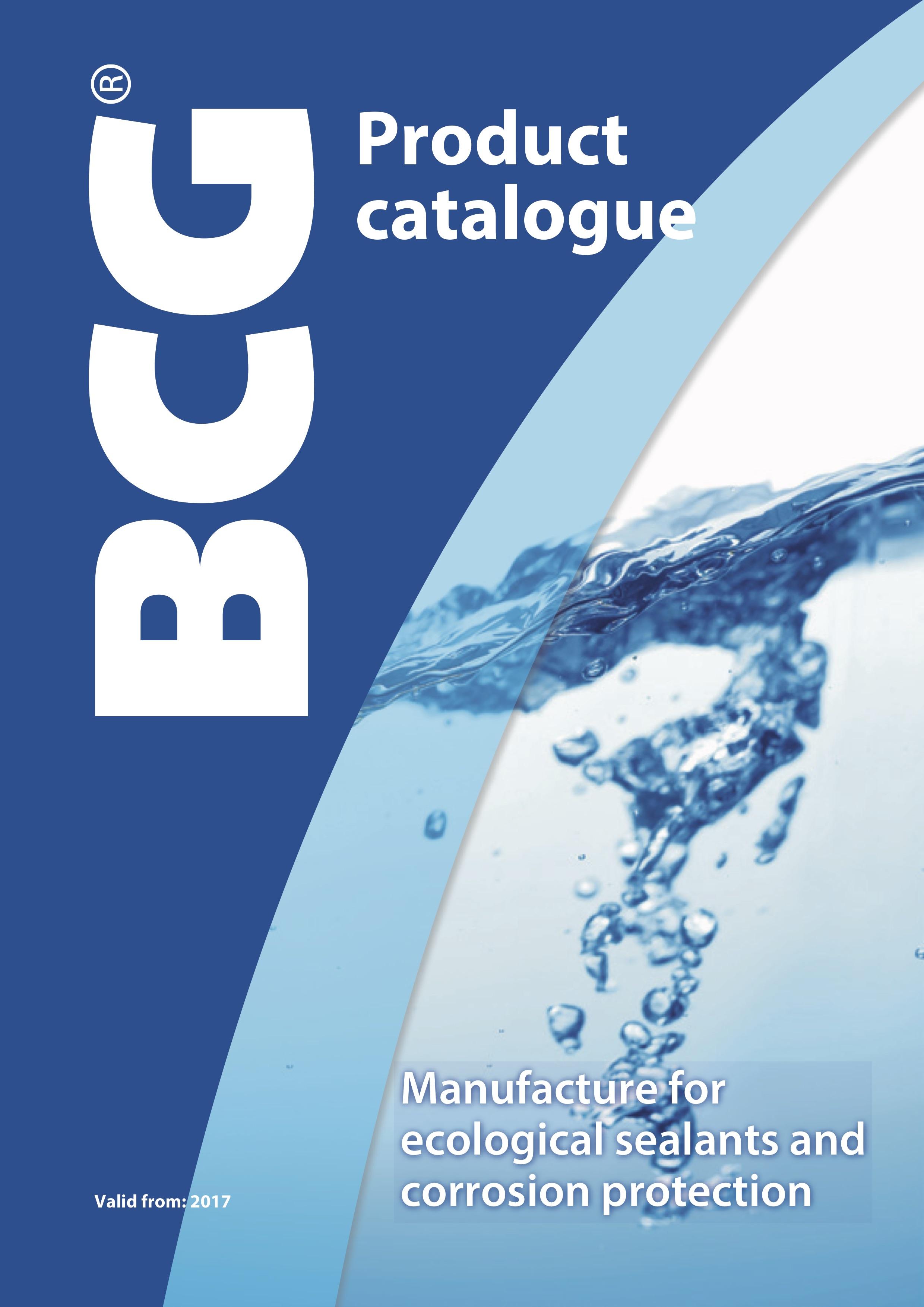 BCG productcataloug englisch 2017
